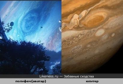 планета газовый гигант Полифем похож на Юпитер