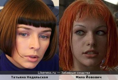 Татьяна Недельская и Мила Йовович