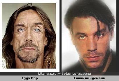 Iggy Pop похож на Tилля ЛиндеманнА