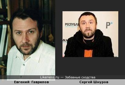 Сергей Шнуров похож Евгения Гаврилова