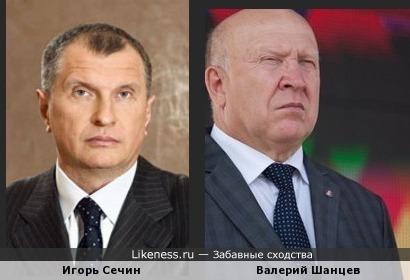 Игорь Сечин и Валерий Шанцев
