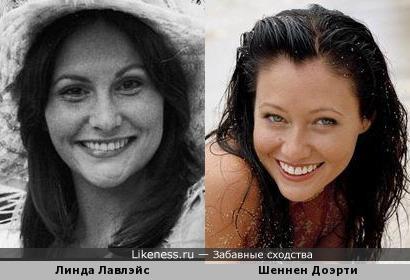 Линда Лавлейс похожа на Шеннен Доэрти