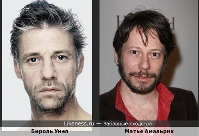актеры Бироль Унел и Матье Амальрик похожи
