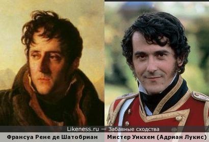 Мистер Уикхем похож на Франсуа Рене де Шатобриана