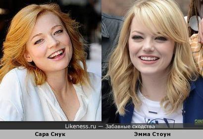 Эмма Стоун и Сара Снук - солнечные девушки