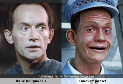 """Два робота или Ланс Хенриксен в роли робота Бишопа и робот-таксист из """"Вспомнить всё"""""""