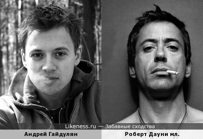 Андрей Гайдулян похож на Роберта Дауни мл.