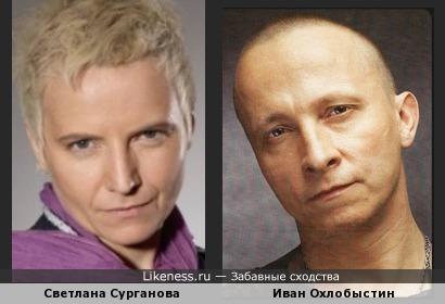 Светлана Сурганова и Иван Охлобыстин похожи