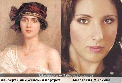 Анастасия Мыскина немного похожа на девушку с портрета
