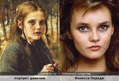 юная Ванесса Паради и девочка с портрета Альберта Эдельфельта