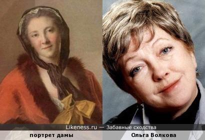 Жан-Марк Наттье портрет дамы и Ольга Волкова