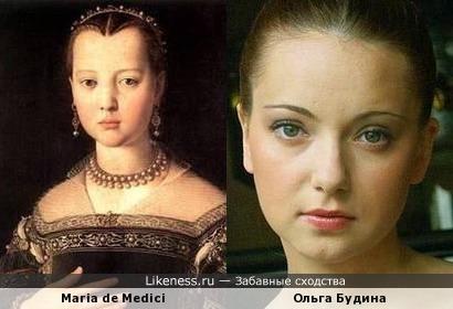 юная Ольга Будина напомнила Марию Медичи с портрета Аньоло Бронзино