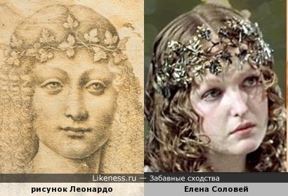 Елена Соловей и девушка с рисунка Леонардо да Винчи