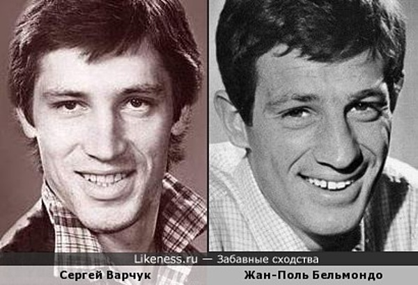 Сергей Варчук похож на Жана-Поля Бельмондо