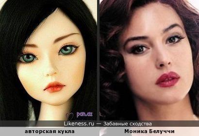 кукла похожа на Монику Белуччи