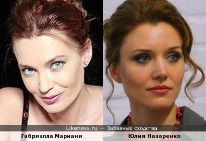 Габриэлла Мариани и Юлия Назаренко