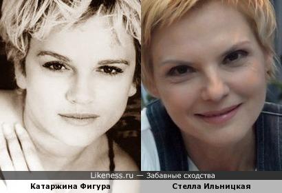 Катаржина Фигура и Стелла Ильницкая