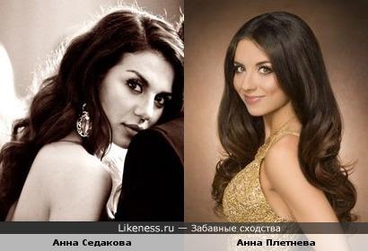 Анна Седакова похожа на Анну Плетневу
