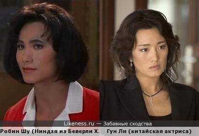 Загримированный Робин Шу похож на Гун Ли
