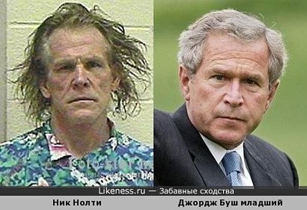 Джордж Буш мл. до и после парикмахерской