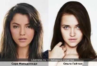 Сара Мальдонадо и Ольга Гайтан