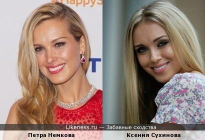 Петра Немкова и Ксения Сухинова