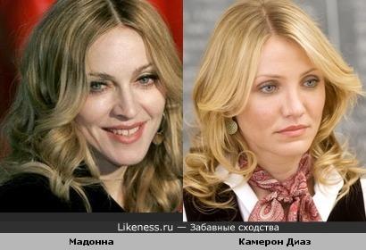 Мадонна похожа на Камерон
