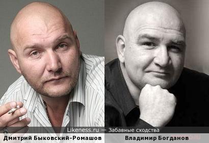 Дмитрий Быковский-Ромашов и Владимир Богданов (похожи)