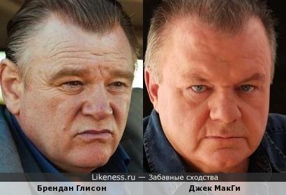 Брендан Глисон и Джек МакГи