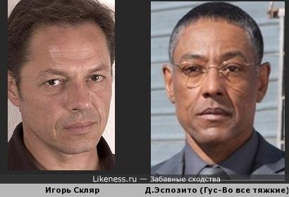 Игорь Скляр похож на Джанкарло Эспозито
