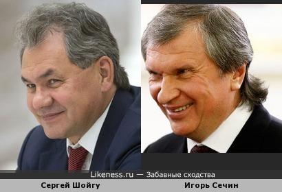 Сергей Шойгу : Игорь Сечин