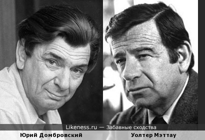 Юрий Домбровский и Уолтер Мэттау (Walter Matthau)