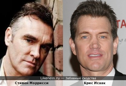 Стивен Моррисси (Morrissey, The Smiths) и Крис Исаак (Chris Isaak)