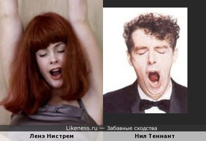 Ленэ Нистрем (Lene Nystrom, Aqua) и Нил Теннант (Neil Tennant, Pet Shop Boys)