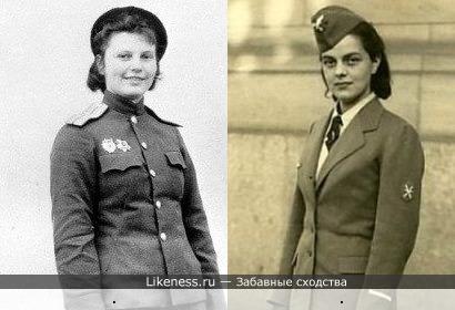 Женщины - участницы 2-й Мировой войны (военные фотоархивы)