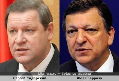 Сергей Сидорский (Беларусь) и Жозе Барозу (Jose Barroso, Евросоюз)