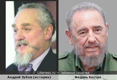 Андрей Зубов (историк) и Фидель Кастро (Fidel Castro)