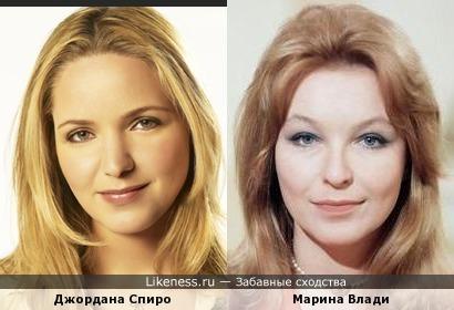 Джордана Спиро (Jordana Spiro) и Марина Влади (Marina Vlady)