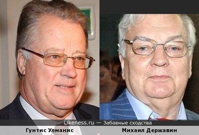 Гунтис Улманис (Guntis Ulmanis) и Михаил Державин