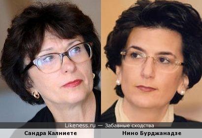 Сандра Калниете b Нино Бурджанадзе