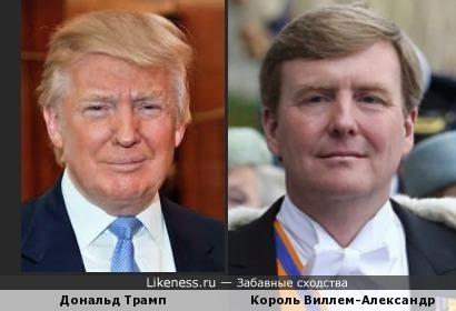 Дональд Трамп и Король Нидерландов Виллем-Александр