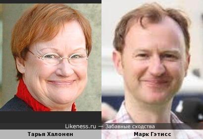 Тарья Халонен и Марк Гэтисс (Mark Gatiss)