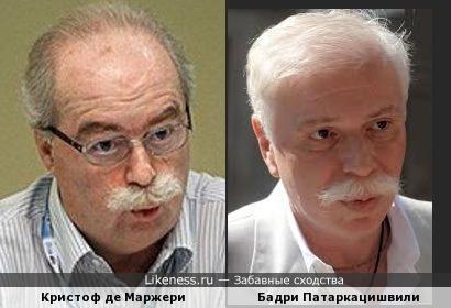 Кристоф де Маржери (Christophe de Margerie) и Бадри Патаркацишвили