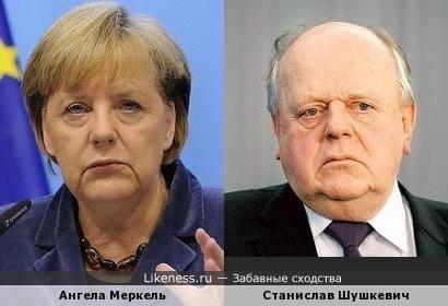 Ангела Меркель и Станислав Шушкевич