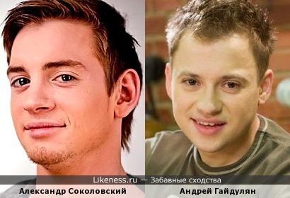 Александр Соколовский похож на Сашу из Универа