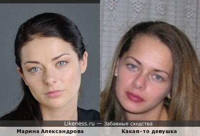 Девушка из эротической фотосессии похожа на Марину Александрову