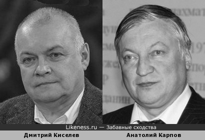 Дмитрий Киселев и Анатолий Карпов похожи