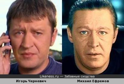 Игорь Черневич и Михаил Ефремов очень похожи