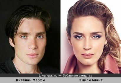 Киллиан Мёрфи и Эмили Блант похожи