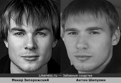Макар Запорожский и Антон Шипулин похожи